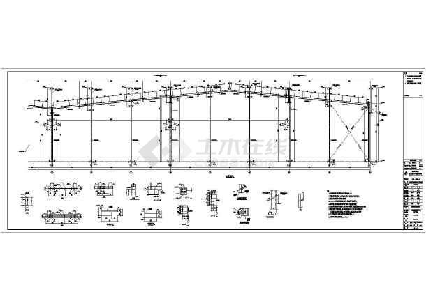 某公司钢结构刚架CAD图-图3