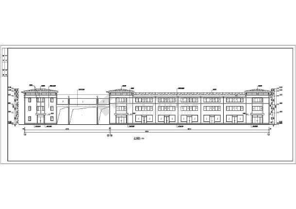 某小区居民住宅楼建筑设计图-图一