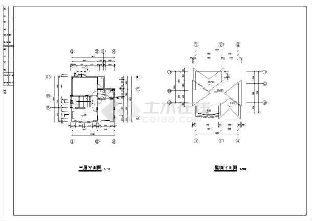 乡村别墅建筑结构设计图纸-图2