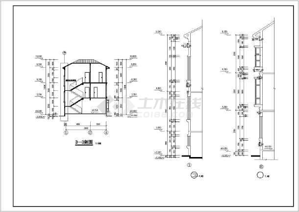 乡村别墅建筑结构设计图纸-图3