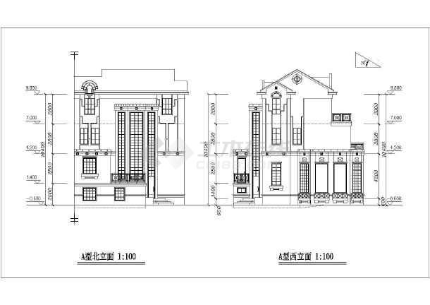 三层经济型住宅建筑设计图纸-图2