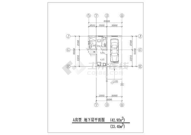 三层经济型住宅建筑设计图纸-图1