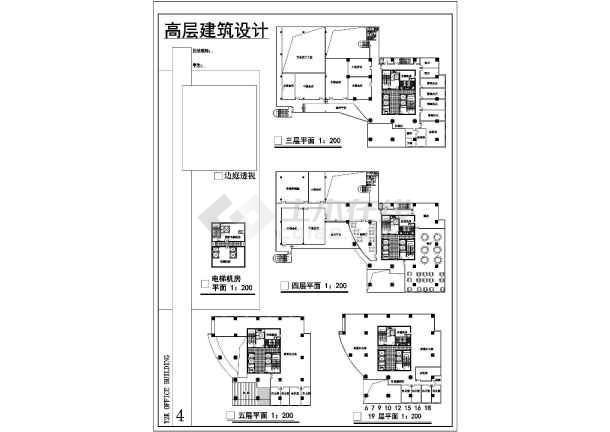 某地高层综合楼建筑设计图-图3