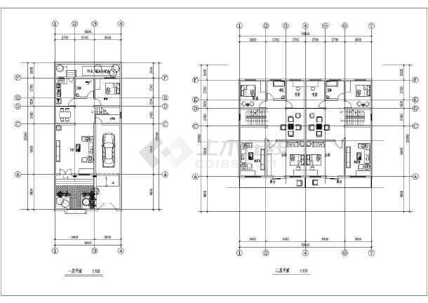 某地新农村住宅设计建筑图-图1