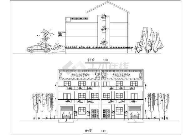 某地新农村住宅设计建筑图-图2