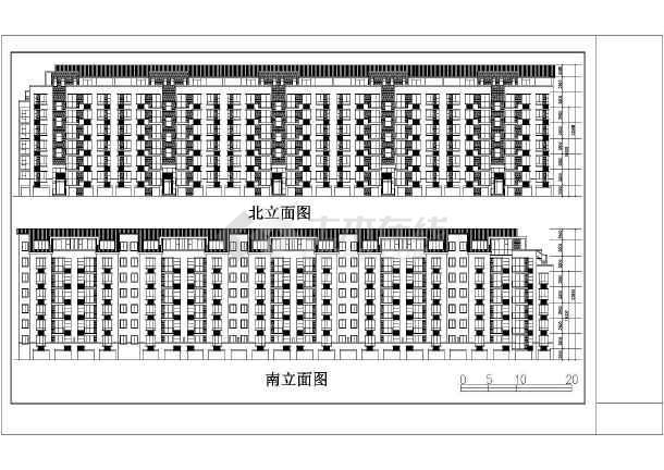 某地某小区住宅建筑设计图(共6张)-图1
