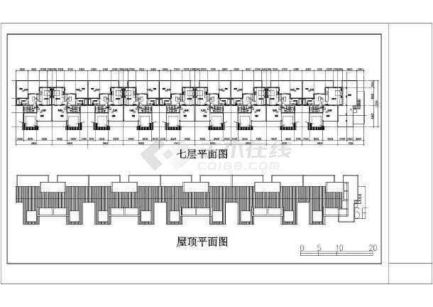 某地某小区住宅建筑设计图(共6张)-图3