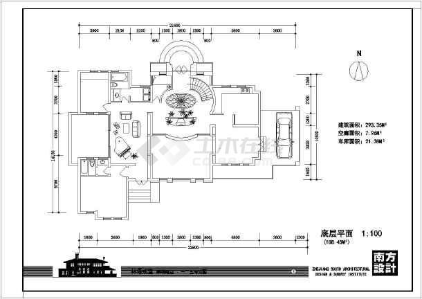 二层农居别墅建筑设计施工图-图1