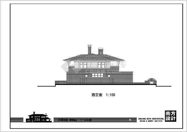 二层农居别墅建筑设计施工图-图2