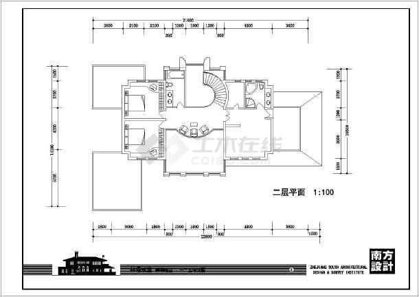 二层农居别墅建筑设计施工图-图3