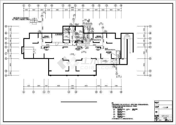 [江苏]高层普通住宅楼群给排水全套图纸(太阳能热水雨水收集)-图一