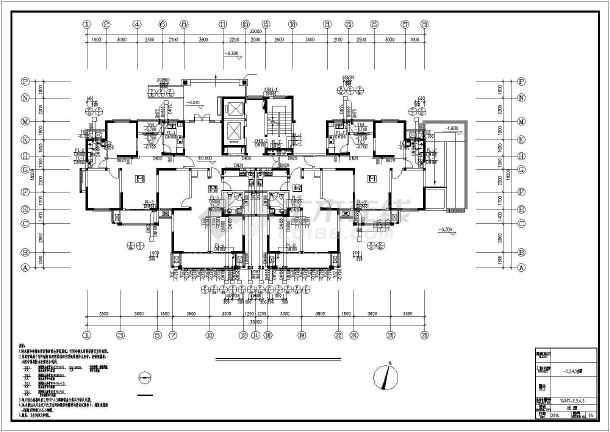 [江苏]高层普通住宅楼群给排水全套图纸(太阳能热水雨水收集)-图1