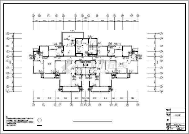 [江苏]高层普通住宅楼群给排水全套图纸(太阳能热水雨水收集)-图2