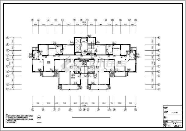 [江苏]高层普通住宅楼群给排水全套图纸(太阳能热水雨水收集)-图3
