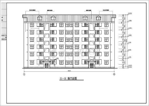 某多层小区居民住宅楼建筑设计图-图1