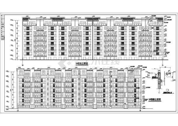 某多层小区居民楼建筑设计图-图1