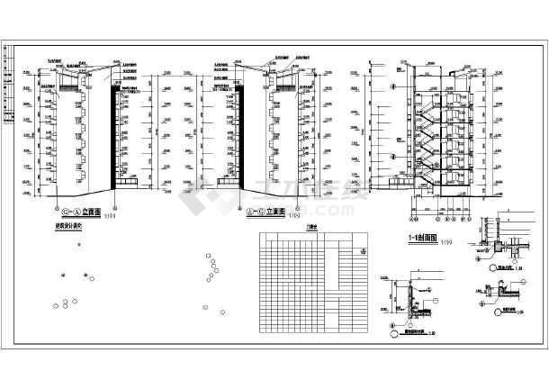 某多层小区居民楼建筑设计图-图2