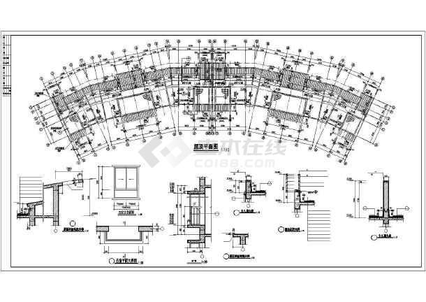某多层小区居民楼建筑设计图-图3