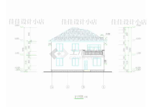 某二层独栋别墅建筑方案图-图2