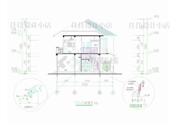 某二层独栋别墅建筑方案图-图3