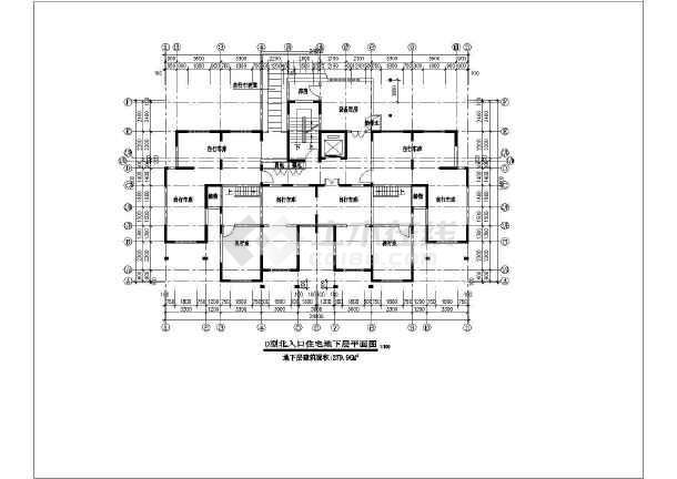 某高层住宅楼建筑方案设计图-图2
