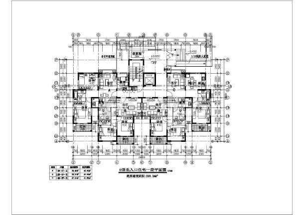 某高层住宅楼建筑方案设计图-图3