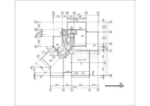 双拼度假别墅建筑设计施工图-图3