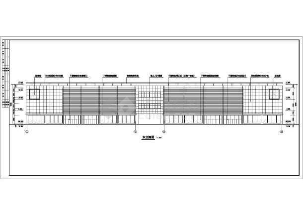 某商场建筑设计CAD全套方案图-图3
