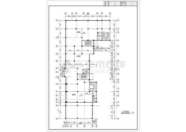 某多层住宅楼建筑设计平面图-图1