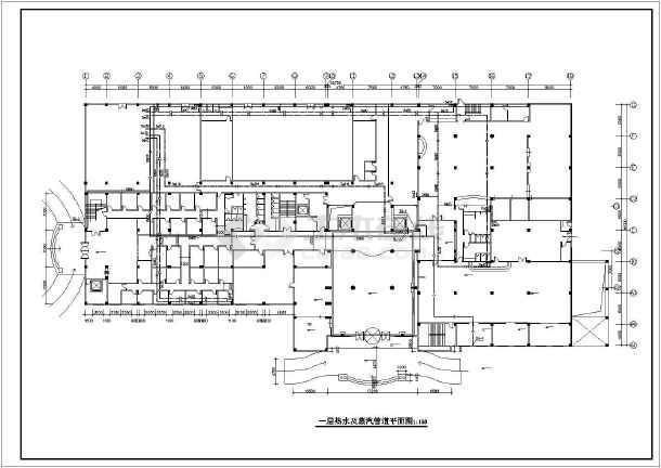 [江苏]花园商务型大酒店给排水施工图纸(蒸汽系统)-图二
