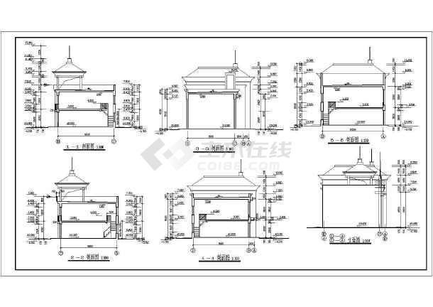 某地二层商业楼门面房建筑施工图-图二