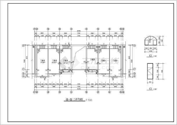 某地二层商业楼门面房建筑施工图-图3