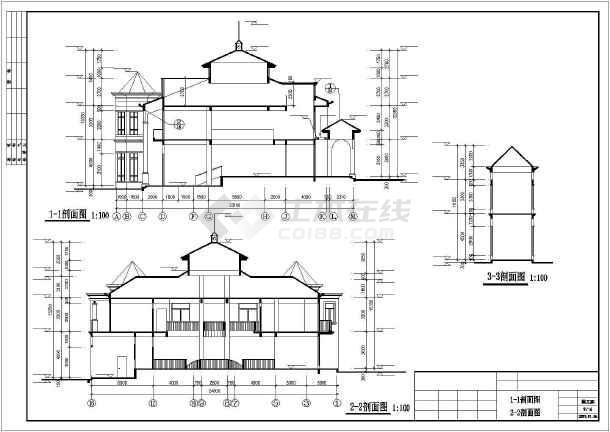 豪华日式别墅建筑设计施工图-图一