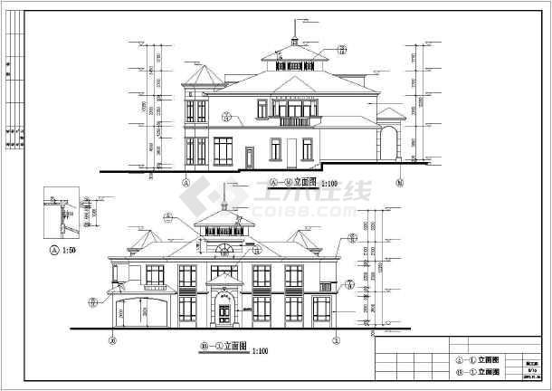 豪华日式别墅建筑设计施工图-图二