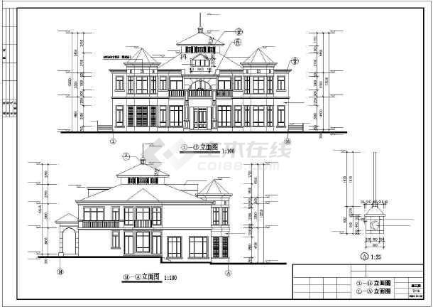 豪华日式别墅建筑设计施工图-图2