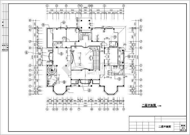 豪华日式别墅建筑设计施工图-图3