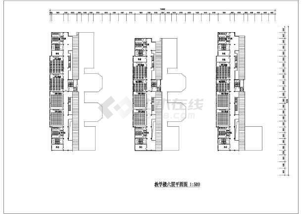 一套教学楼设计方案建筑图-图1