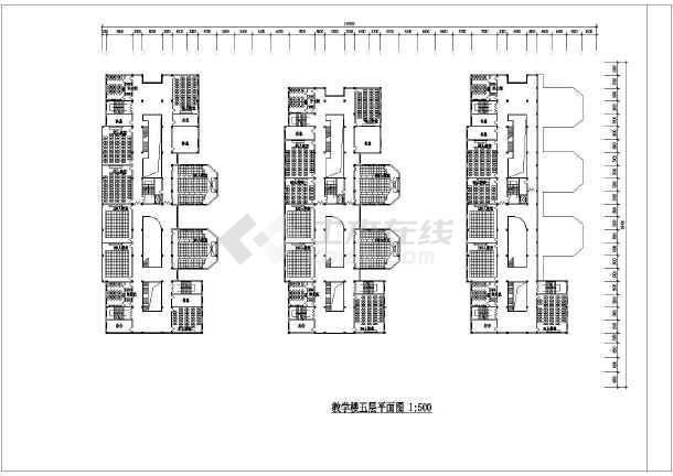 一套教学楼设计方案建筑图-图3
