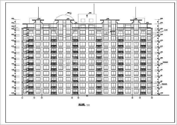 点击查看高层住宅楼建筑施工图第1张大图