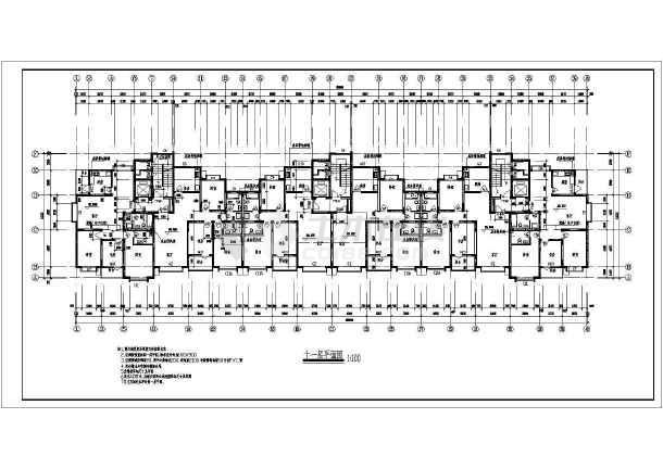 高层住宅楼建筑施工图-图1