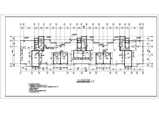 高层住宅楼建筑施工图-图3