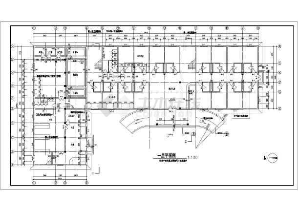 某地四层宾馆建筑图(含设计说明)-图1