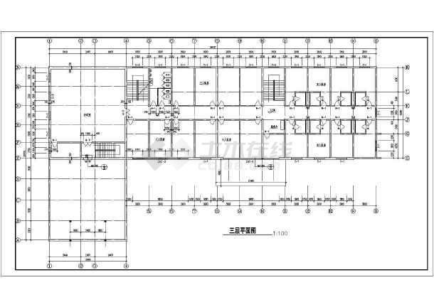 某地四层宾馆建筑图(含设计说明)-图2