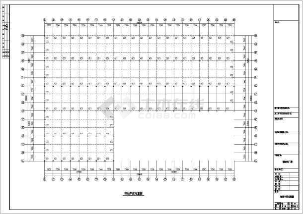 某公司石材钢结构厂房CAD图-图1
