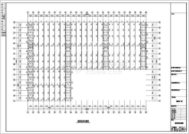 某公司石材钢结构厂房CAD图-图2