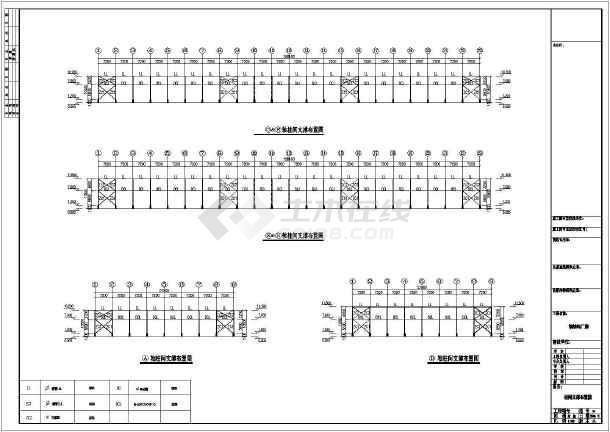 某公司石材钢结构厂房CAD图-图3
