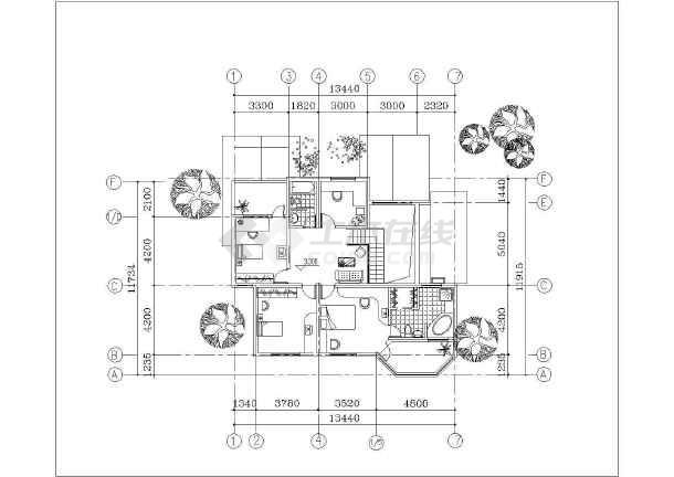 独立欧式别墅建筑设计施工图-图2