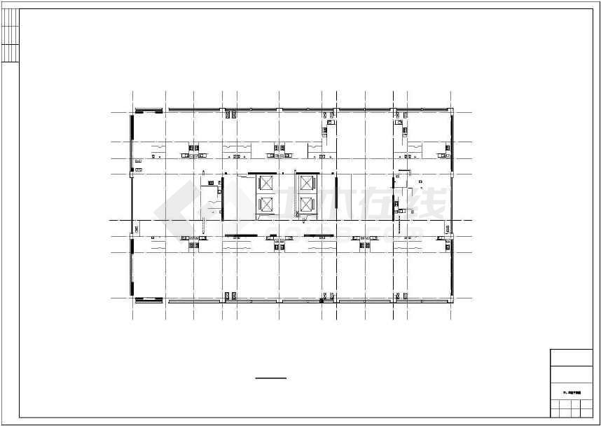 某地二十二层综合楼建筑施工图(含人防工程和效果图)-图1