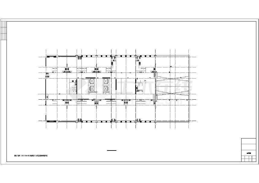 某地二十二层综合楼建筑施工图(含人防工程和效果图)-图3