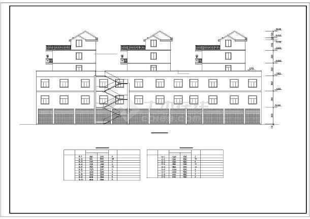 某县某商住楼建筑设计图(共11张)-图1